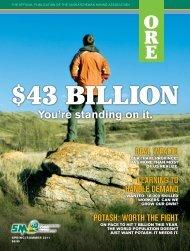 ORE - Saskatchewan Mining Association