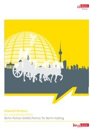 Powerful Partners for a prosperous Berlin Berlin Partner GmbH ...