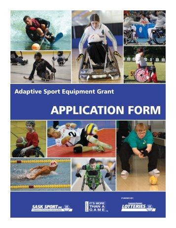 Equipment Application.indd - Sask Sport Inc.