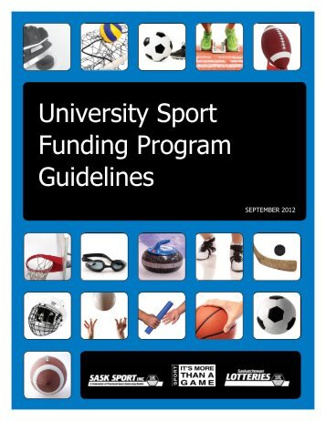University Sport Funding Program Guidelines - Sask Sport Inc.