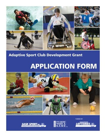 Club Development Application.indd - Sask Sport Inc.