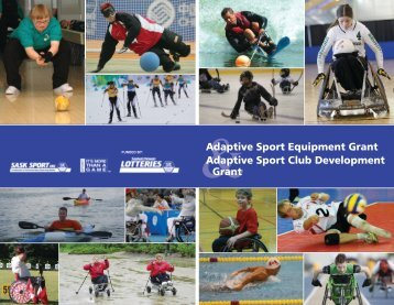 &Adaptive Sport Equipment Grant Adaptive Sport ... - Sask Sport Inc.