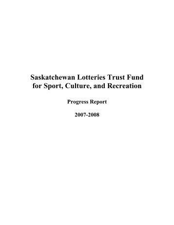 Saskatchewan Lotteries Trust Fund for Sport ... - Sask Sport Inc.