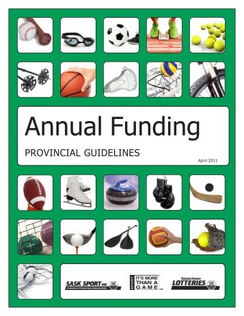 Annual Funding Guidelines - PSGB - Sask Sport Inc.