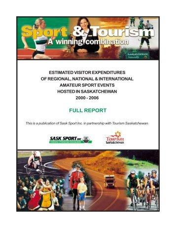 estimated visitor expenditures of regional, national ... - Sask Sport Inc.