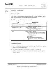 ITEM Local Loop – Conditioning 110.50 1. Service ... - SaskTel