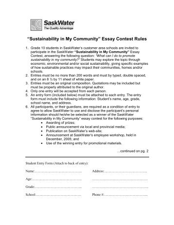 official entry form aeoepeace through strengthae essay contest aeoesustainability in my communityae essay contest rules saskwater