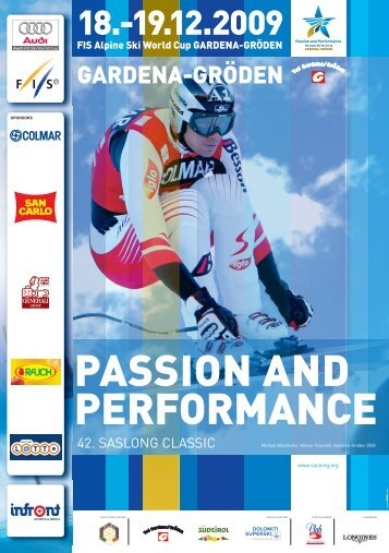 PASSION AND PERFORMANCE - Saslong
