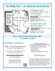 November 18 - St. Philip Neri - St. Albert the Great Parish