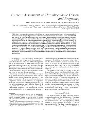 thromboembolic disease and pregnancy..pdf - SASSiT
