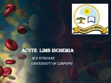 Acute limb ischemia - SASSiT
