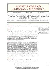 Obesity and cancer NEJM.pdf - SASSiT