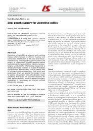 Ileal pouch surgery for ulcerative colitis - SASSiT