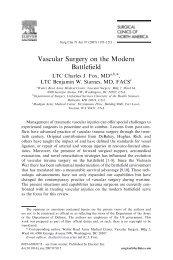 Vascular Surgery on the Modern Battlefield - SASSiT