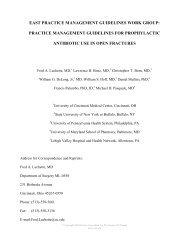 Open Fractures Prophylactic Antibiotics - The Eastern Association ...