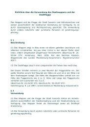 Richtlinie über die Verwendung des Stadtwappens und ... - Sassnitz