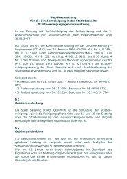 Straßenreinigungsgebührensatzung - Sassnitz