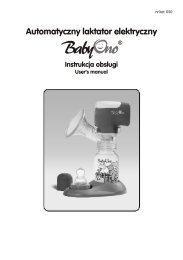 Automatyczny laktator elektryczny  Instrukcja obs³ugi - BabyOno