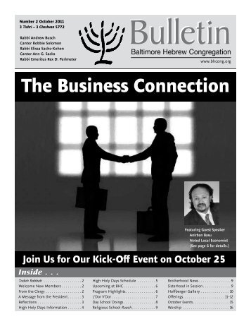 October 11 Bulletin - Baltimore Hebrew Congregation