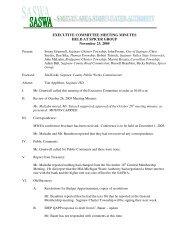 EXECUTIVE COMMITTEE MEETING MINUTES HELD ... - Saswa.org