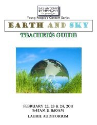 EARTH AND SKY - San Antonio Symphony