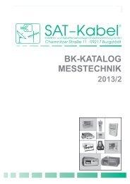 BK-Katalog Messtechnik 2013 - SAT-Kabel GmbH