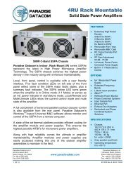 (4 RU) Solid State Power Amplifiers - Satcom Services