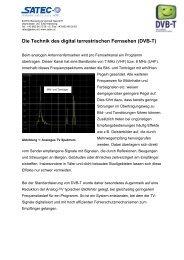 Die Technik des digital terrestrischen Fernsehen (DVB-T) - SATEC