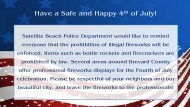 4th of July Message! - Satellite Beach