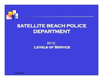 SATELLITE BEACH POLICE DEPARTMENT - The City of Satellite ...