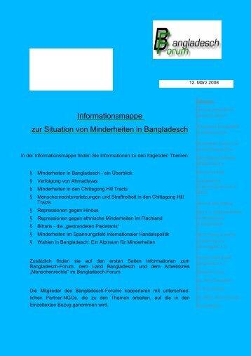 Informationsmappe zur Situation von Minderheiten in Bangladesch ...