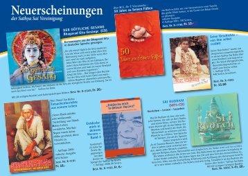 Neuerscheinungen - Sathya Sai Organisation Schweiz
