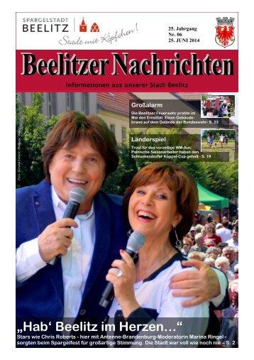 Beelitzer Nachrichten - Juni 2014