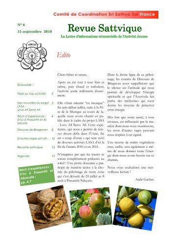 Revue Sattvique N° 6 - Organisation Sri Sathya Sai France