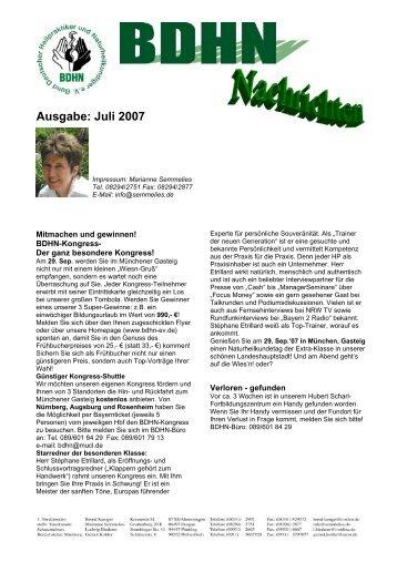 Ausgabe: Juli 2007 - BDHN