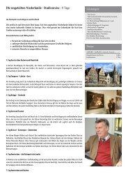 In die ungeteilten Niederlande - Studienreise - Heideker Reisen