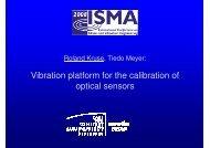Vibration platform for the calibration of optical sensors