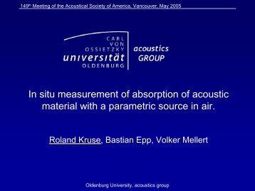ASA Presentation 2005 - Acoustics