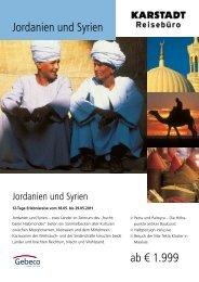 Jordanien und Syrien ab € 1.999 - Karstadt Reisen