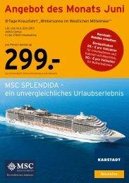 Angebot des Monats Juni - Karstadt Reisen