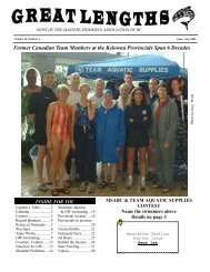 Great Lengths - Masters Swimming Association of British Columbia