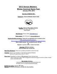 2013 Vernon Masters Winter Carnival Swim Fest
