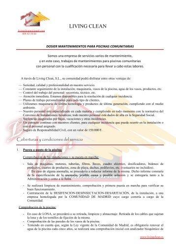 Dossier de Piscinas - PortalRivas.com