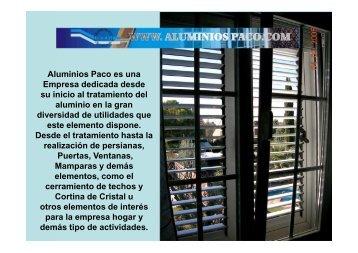 descarga del dossier de aluminios paco - PortalRivas.com