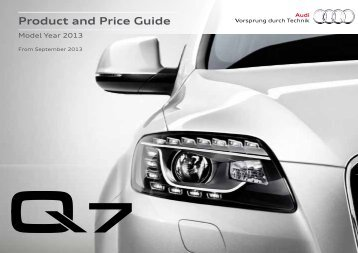 Q7 / Product and Price Guide - Audi