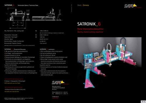 PDF-Download SATRONIK_G Folder (deutsch/englisch - Sato