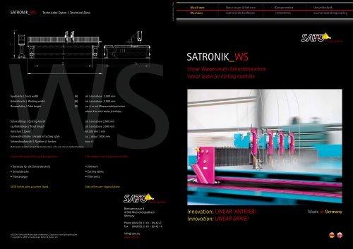 Download PDF SATRONIK_WS Folder (deutsch-englisch) - Sato