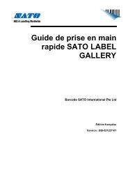 Guide de prise en main rapide SATO LABEL GALLERY - Sato Europe