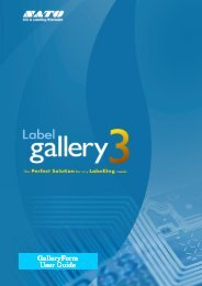 Guide d'utilisation Gallery Form - Sato Europe