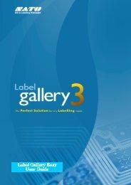 Guide d'utilisation Label Gallery Easy - Sato Europe
